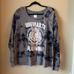NWT Hogwarts tie dye long sleeve tee size XXL